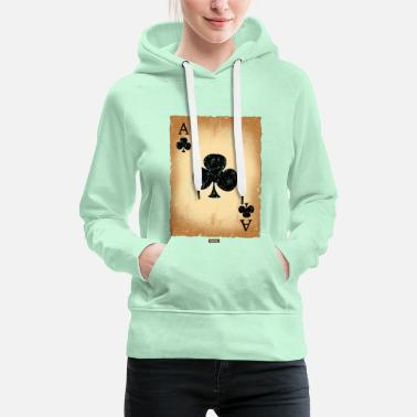 Cologne Playing Card Cross Ass HARIZ Carnival Kostuem Koeln - Women's Premium Hoodie