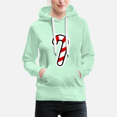 Cane Candy Cane - Women's Premium Hoodie