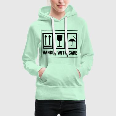 Container Handle with care - Frauen Premium Hoodie