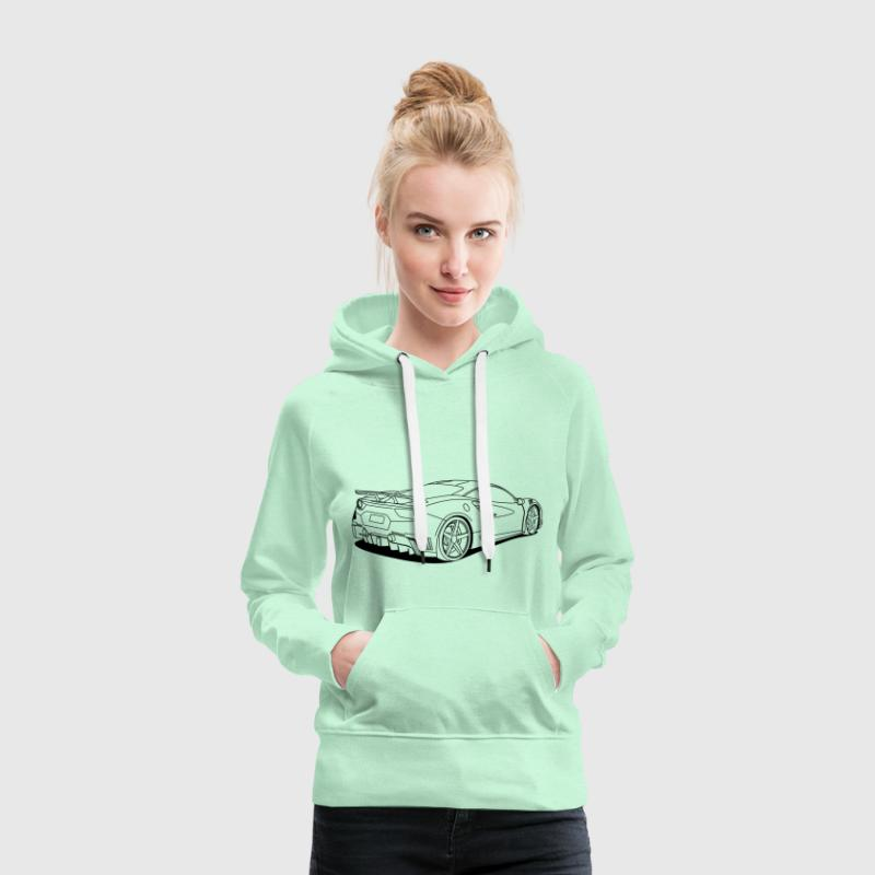 cool car outlines - Women's Premium Hoodie
