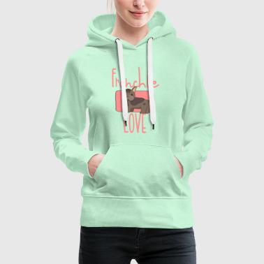 Love Frenchie - Great Dane / Bulldog / Pug - Women's Premium Hoodie