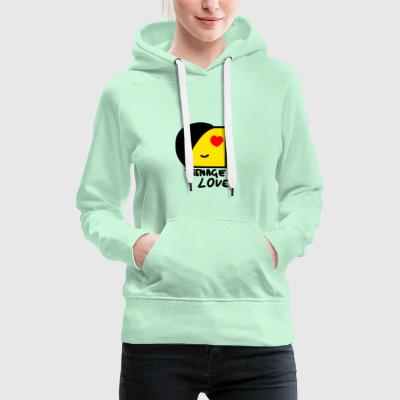 Emo Boy: Teenage Love - Women's Premium Hoodie