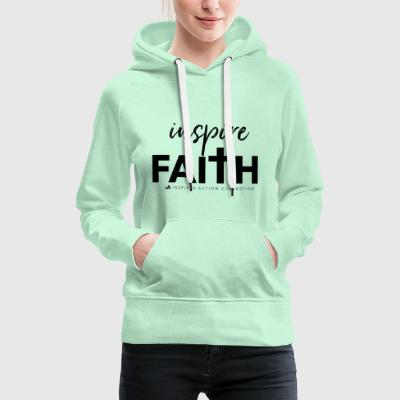 inspirere faith black - Premium hettegenser for kvinner