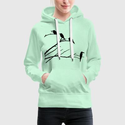 Birds on branch - Women's Premium Hoodie