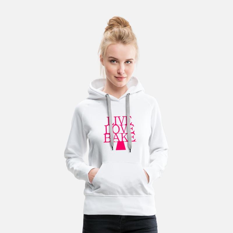 Large FemmeSpreadshirt Livelovebake Sweat Capuche Premium À Extra FKclJ1