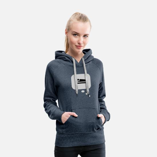 Bed Hoodies & Sweatshirts - tired tshirt - Women's Premium Hoodie heather denim