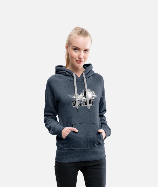 Carp Fishing Hoodies & Sweatshirts - Back at home - Women's Premium Hoodie heather denim