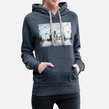 Brüssel Atomium Photo Collage - Frauen Premium Hoodie