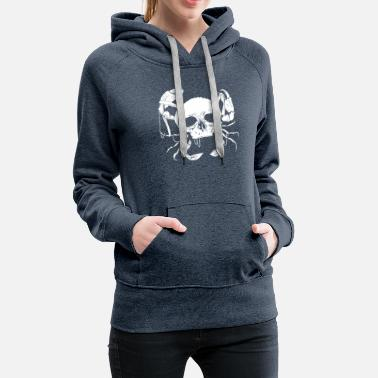 North Sea North German Platt saying gift · Skull - Women's Premium Hoodie