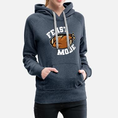 Thanksgiving Truthahn Football - Frauen Premium Hoodie