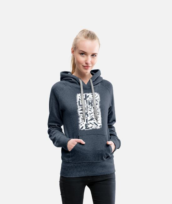 Carp Hoodies & Sweatshirts - LureJunkie - Women's Premium Hoodie heather denim
