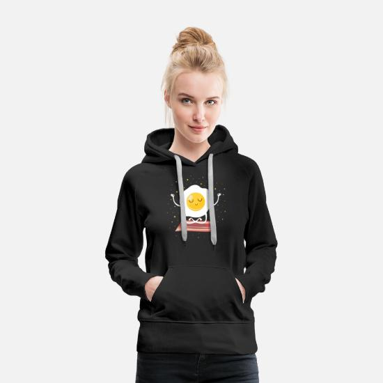 Yoga Hoodies & Sweatshirts - Ei (Meditation) - Women's Premium Hoodie black