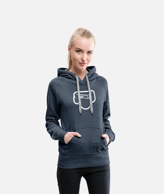 Shit Hoodies & Sweatshirts - Diaper With A Safety Pin - Women's Premium Hoodie heather denim