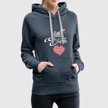 Little Sister with Hearts - Frauen Premium Hoodie