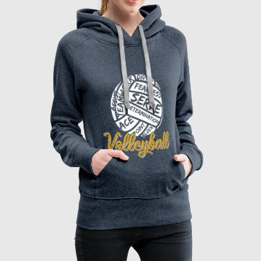 Volleyball Beach Soccer - Women's Premium Hoodie