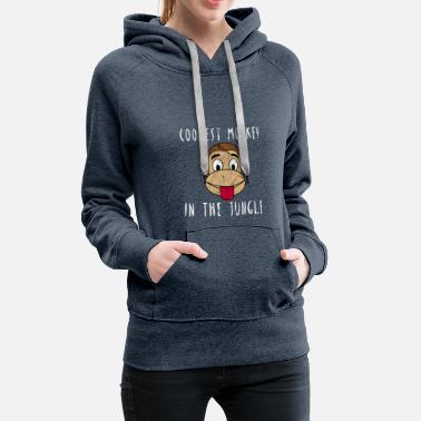 48950848ccc Monkey Jungle Coolest Monkey in the Jungle Gift - Women s Premium Hoodie