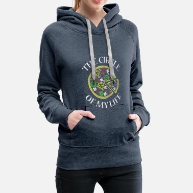 Godly Circle Of My Life Pizza Shirt Tea Most Delicious, - Women's Premium Hoodie