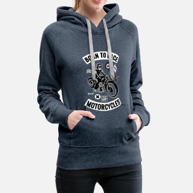 Dirt Motorcycle Motorcyclist Biker Shopper - Women's Premium Hoodie