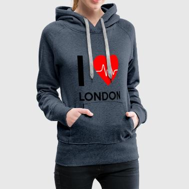 I Love London I Love London - I love London - Women's Premium Hoodie