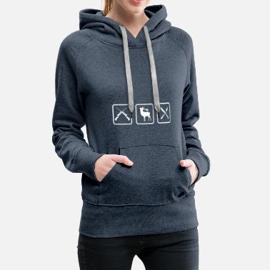 Shooting Sports Hunter triathlon gift hunting funny funny - Women's Premium Hoodie