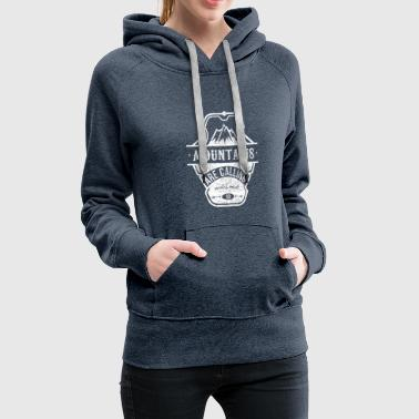 mountains are calling - weiss - Frauen Premium Hoodie