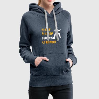 Karate Jujitsu - present for men and women - Frauen Premium Hoodie