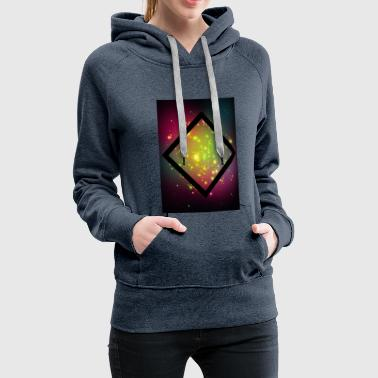 Rectangle Rhombus, galaxy, rectangle, hipster, triangle - Women's Premium Hoodie