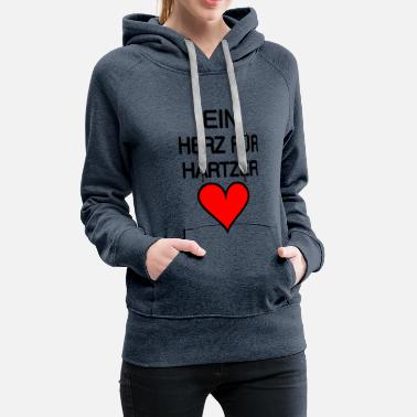 Satyr A heart for Hartzer in black. - Women's Premium Hoodie