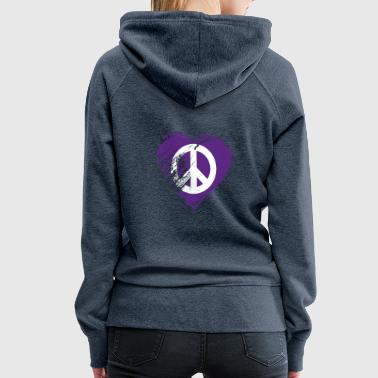 I Heart Grungy I Love Peace Heart Flag - Vrouwen Premium hoodie