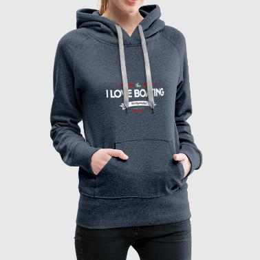 boating_logo_4 - Sweat-shirt à capuche Premium pour femmes