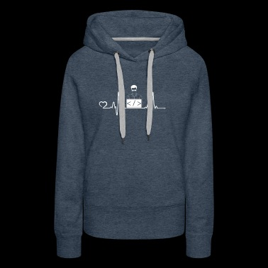 Programmer presents heartbeat - Women's Premium Hoodie