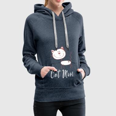 Cat mamma - Funny Cat Cartoon - Cat Gift - Felpa con cappuccio premium da donna