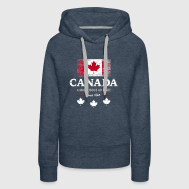 Canada, Ottawa, Maple Leaf Maple Leaf Canada Amérique - Sweat-shirt à capuche Premium pour femmes