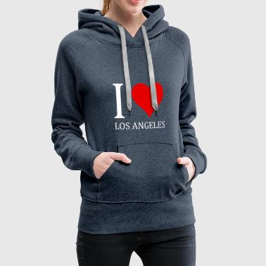 I love Los Angeles design - Women's Premium Hoodie