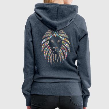 ball colorful lion head - Women's Premium Hoodie