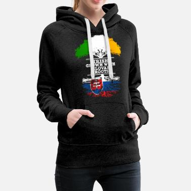 Roots Irish Grown With Slovak Roots - Women's Premium Hoodie