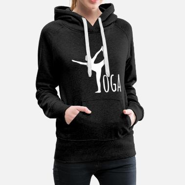 yoga hatha relaxation sports gift  - Women's Premium Hoodie