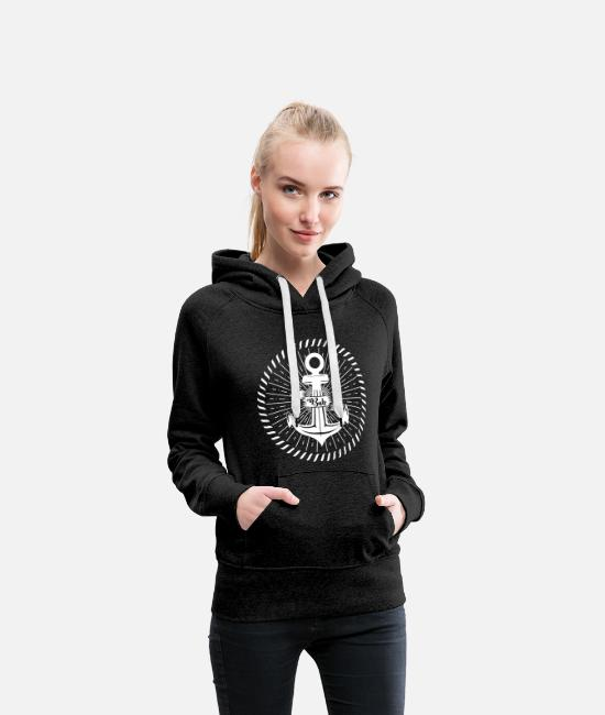 Sailboat Hoodies & Sweatshirts - Maritime anchor boy - Women's Premium Hoodie charcoal grey