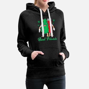 Cannabis and lighter are best friends - Women's Premium Hoodie