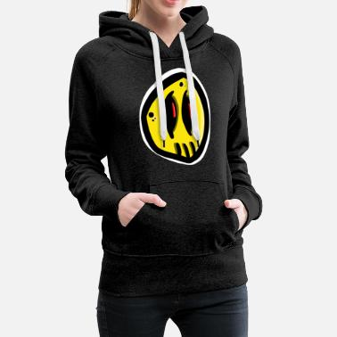 Comic Yellow comic monster - Frauen Premium Hoodie