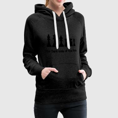 The Dark Side of the Force - Sudadera con capucha premium para mujer