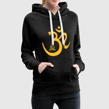 OM Mantra with Buddha in Meditation   - Women's Premium Hoodie