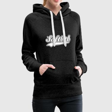 softball - Sweat-shirt à capuche Premium pour femmes