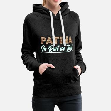 Patina - In Rust We Trust - Felpa con cappuccio premium da donna
