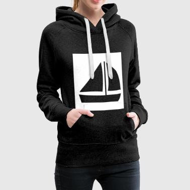 Sailboat in the rectangle - Women's Premium Hoodie