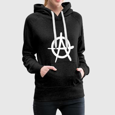 Anarchy is alright Logo Antifa - Women's Premium Hoodie