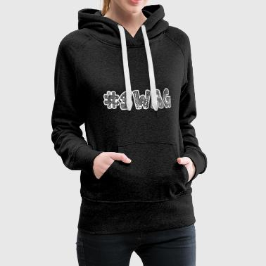 Swag lettering with patterns and ornaments. - Women's Premium Hoodie