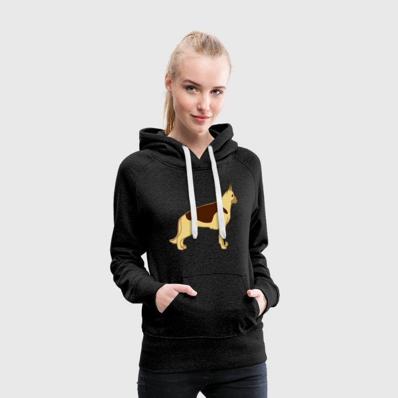 german shepherd 2 - Sweat-shirt à capuche Premium pour femmes