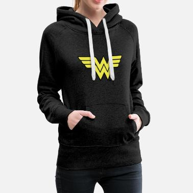 Justice League Wonder Woman Logo - Frauen Premium Hoodie