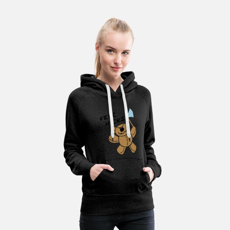 Bear Hoodies & Sweatshirts - Killer Teddy-Bear Hoodies & Sweatshirts - Women's Premium Hoodie charcoal grey